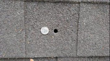 Falling Bullets Cause Roof Damage